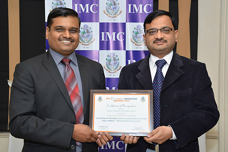 Inclusive Innovation Award, 2013 by Indian Merchants' Chamber
