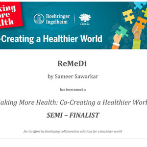 Semi-Finalist in the Making More Health:  Co-Creating a Healthier World Challenge!